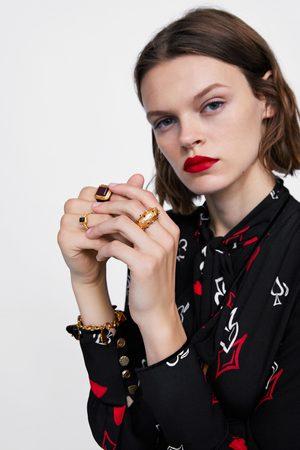 Zara SET OF BEJEWLLED HEART RINGS
