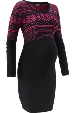 bonprix Mammamode: stickad klänning med norgemönster