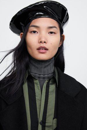 Zara LIMITED EDITION FAUX VINYL BERET