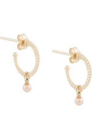 Karen Walker öronringar med pärla