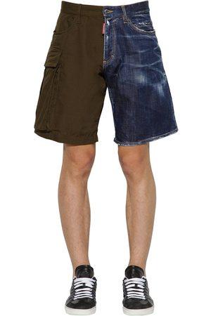 Dsquared2 Rip Stop Cotton & Denim Boxer Shorts