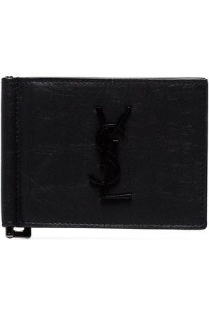 Saint Laurent Man Plånböcker - Läderplånbok med sedelklämma