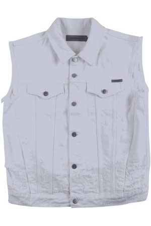 Calvin Klein Denim Vest Shredded White