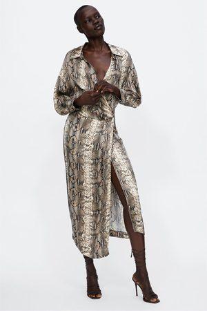leopard klänning zara