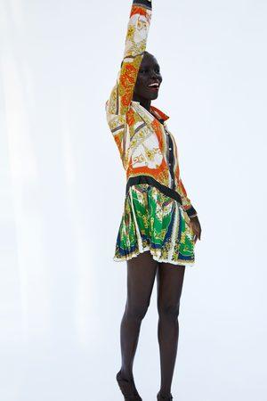 Zara CHAIN PATCHWORK PRINT DRESS