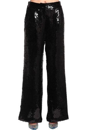 FILLES A PAPA Sequined Wide Leg Pants