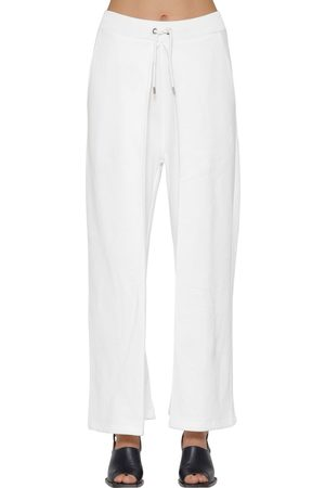 AALTO Pleated Cotton Sweatpants W/ Drawstring