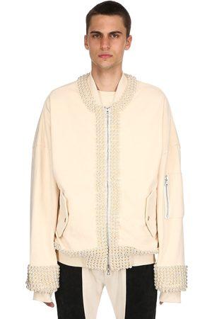 ARNODEFRANCE Embellished Heavy Cotton Bomber Jacket