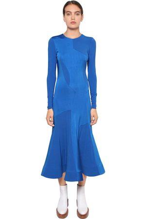 ESTEBAN CORTAZAR Kvinna Casual klänningar - Satin Bonded Viscose Jersey Midi Dress