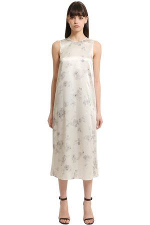 Calvin Klein Floral Printed Silk Dress