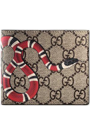 Gucci Man Plånböcker - Kingsnake print GG Supreme wallet