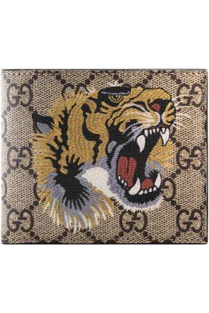 Gucci Man Plånböcker - Tiger print GG Supreme wallet