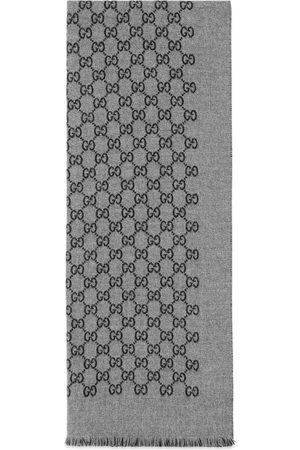 Gucci Double jacquard GG wool scarf