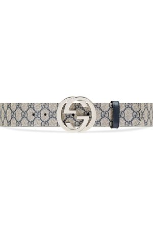 Gucci Man Bälten - GG Supreme belt with G buckle
