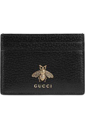 Gucci Man Plånböcker - Animalier leather card case