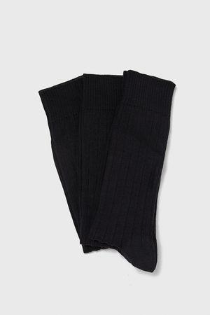 Zara Pack ribbstickade strumpor