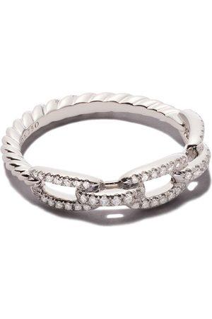 David Yurman Strax ring med kedja i 18 karat rött guld med diamanter