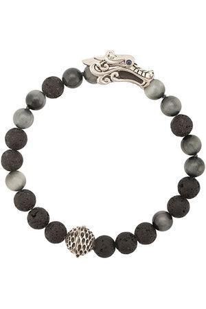 """John Hardy """"Legends Naga med Station pärlat armband med olika stenar, silverdetalj och safir"""""""
