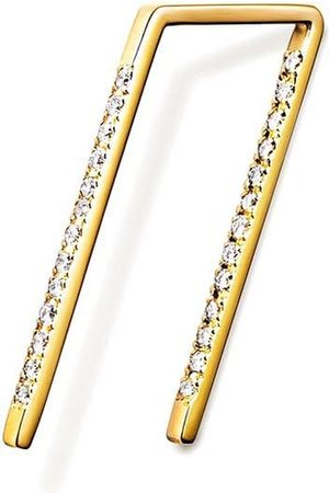 SHIHARA Stiftörhänge med diamant