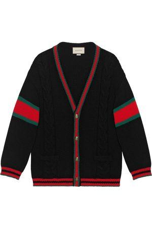 Gucci Man Tröjor - Kabelstickad oversize-cardigan