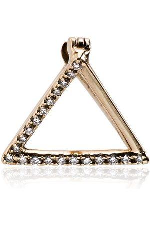 SHIHARA Triangelformat diamantörhänge i 18K gult guld