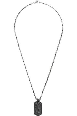 David Yurman Man Halsband - Pavé diamond titanium tag