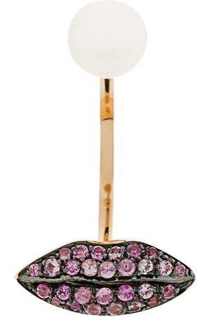 DELFINA DELETTREZ örhänge i 18 karats champagneguld i läppform