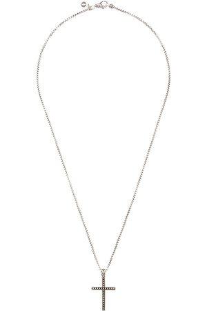 John Hardy Jawan klassiskt halsband i silver med korshänge