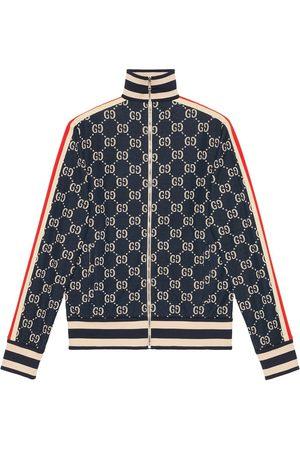 Gucci Bomullsjacka i jacquard och GG-logotyp
