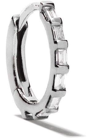 Stone Tiny Hoop örhängen med baguetteslipade diamanter i 18 karat svart guld