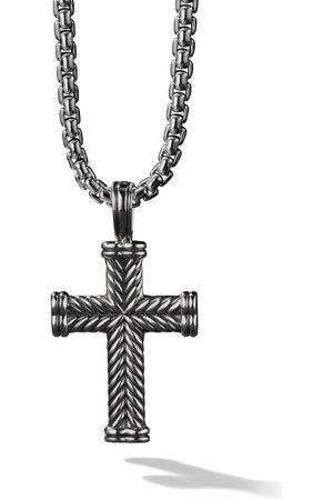 David Yurman Silver Chevron Cross Enhancer pendant . 947cb702dd4a4