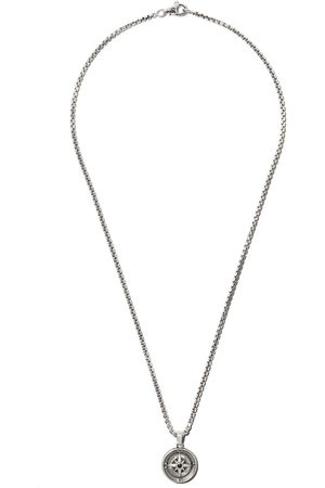 David Yurman Man Halsband - Maritime Compass black diamond amulet