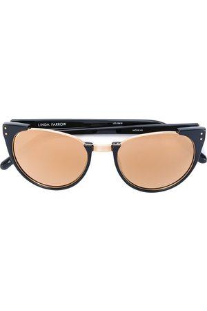 Linda Farrow Solglasögon med avsaknad båge upptill