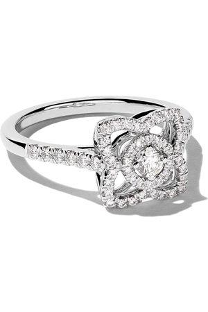 De Beers Enchanted Lotus diamantring i 18K vitt guld