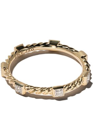 David Yurman Cable Collectibles stapelring i 18 karat rött guld med diamant