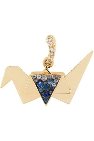 Aurélie Bidermann Origami sapphire and diamond pendant