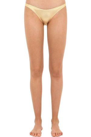 Solid Kvinna Bikinis - Metallic Bikini Bottoms