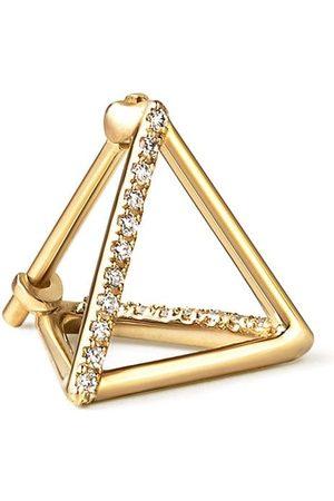 SHIHARA Triangelformade örhängen med diamant