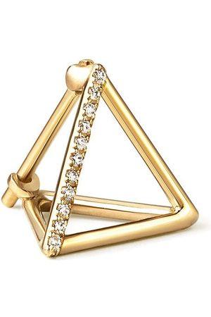 SHIHARA Kvinna Örhängen - Triangelformade örhängen med diamanter