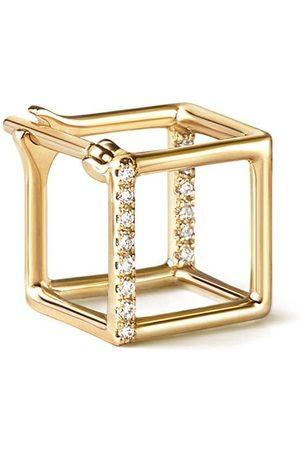 SHIHARA Kubformade örhängen med diamanter