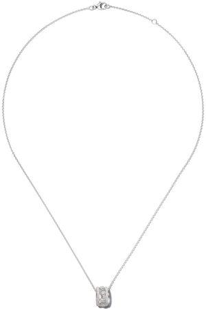 De Beers Dewdrop diamanthalsband i 18 karat vitguld