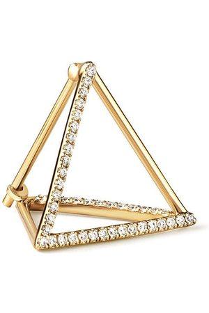 SHIHARA Triangelformade örhängen med diamanter
