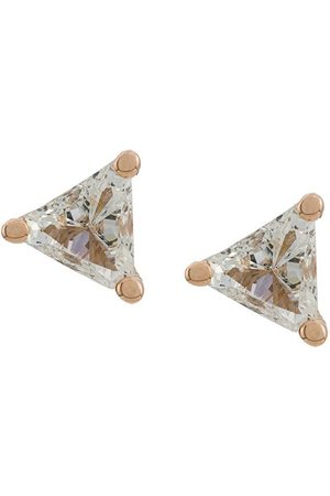 DELFINA DELETTREZ Stiftörhängen i 18 karat färgat med diamant