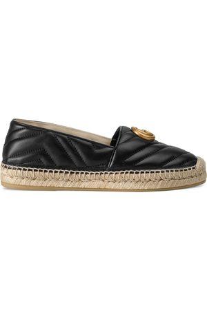 Gucci Kvinna Kilklackar - Leather espadrille with Double G