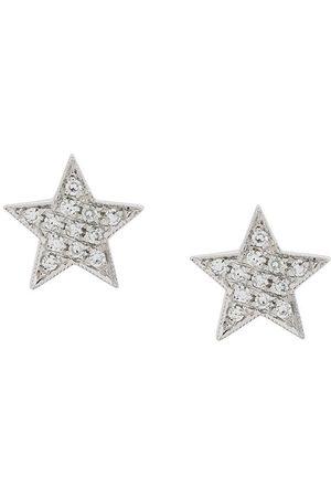 Dana Rebecca Designs Kvinna Örhängen - Julianne Himiko stjärnörhängen med diamant i 14kt vitt