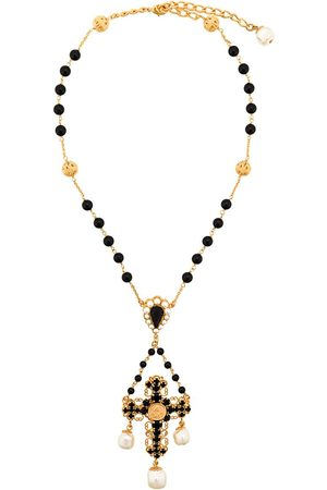 Dolce & Gabbana Beaded crucifix necklace