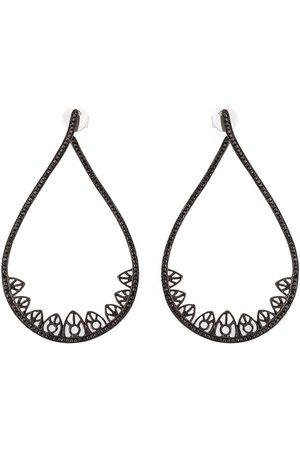 JOËLLE JEWELLERY Gothic teardrop diamond earrings