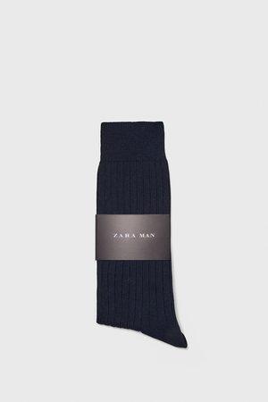 Zara Kvinna Strumpor & Sockar - Ribbstickad och merceriserad strumpa