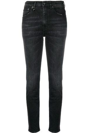 R13 Kvinna High waist - Skinny-jeans med hög midja