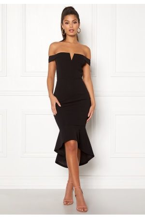 Ax Paris Bardot Fishtail Dress Black M (UK12)